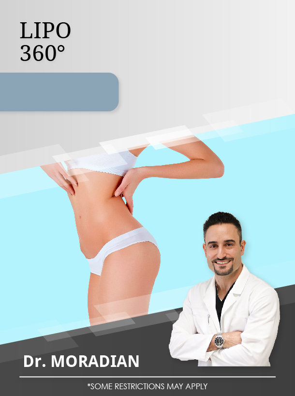 12 Areas of Liposuction with Dr. Moradian for $3,800 Special Image