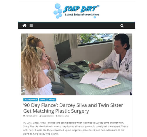 Darcey Silva Mommy Makeover by Dr Abuzeni in the news